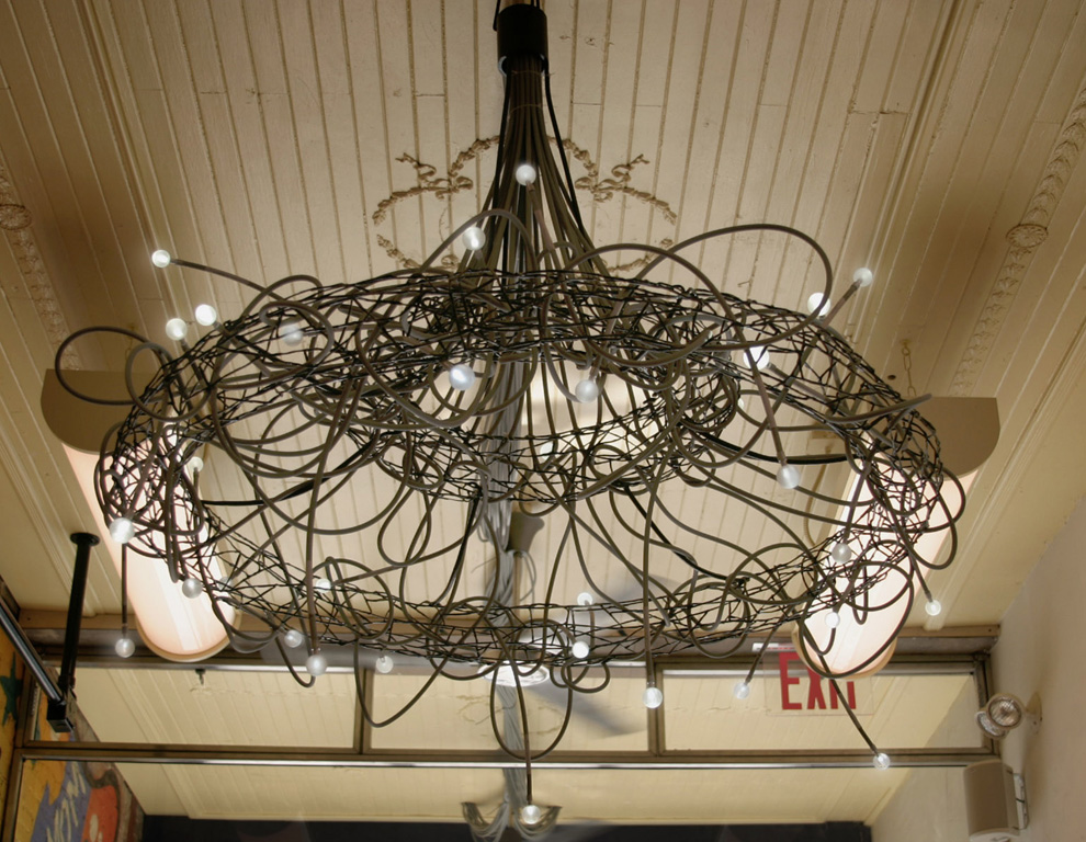 Chandeliersmetal atomseco sunlight collectors and fiber optic cables comprise the worlds first sunlit chandelier its fabricated from metal and fiber optic tubes that transmit the aloadofball Gallery